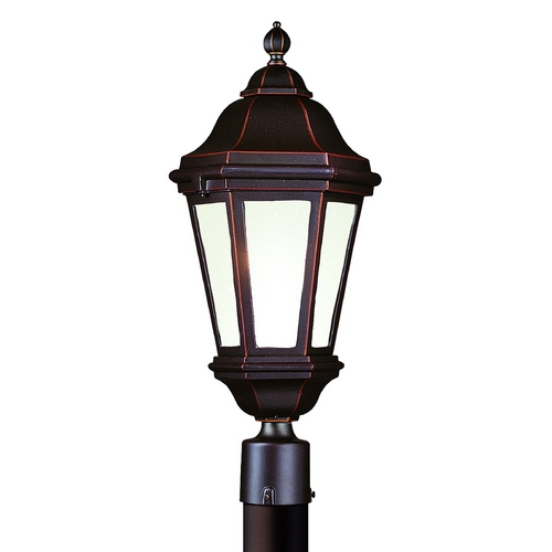 Troy Lighting Post Light with Clear Glass in Antique Bronze Finish PFCD6832ABZ