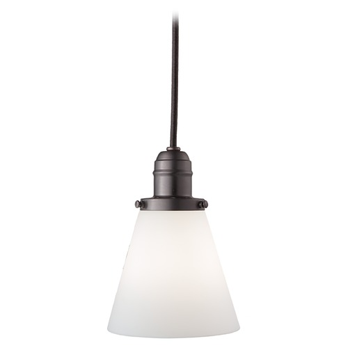 Hudson Valley Lighting Mini-Pendant Light with White Glass 3102-OB-505M