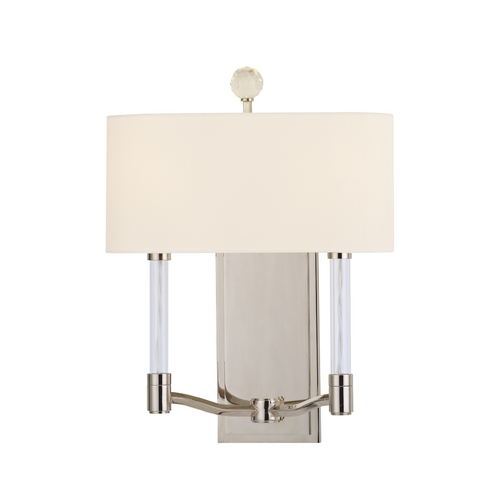 Hudson Valley Lighting Modern Sconce Wall Light with White Shades in Polished Nickel Finish 3002-PN