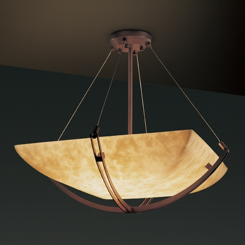 Justice Design Group Justice Design Group Clouds Collection Pendant Light CLD-9722-25-DBRZ