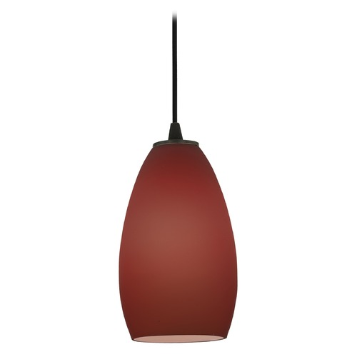 Access Lighting Modern Mini-Pendant Light with Purple Glass 28012-2C-ORB/PLM