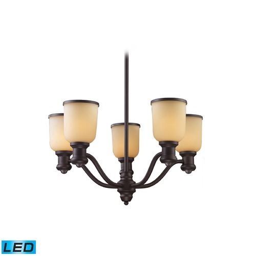 Elk Lighting Elk Lighting Brooksdale Oiled Bronze LED Chandelier 66173-5-LED