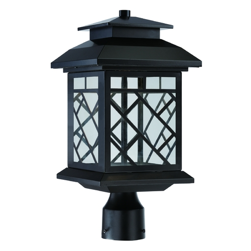 Designers Fountain Lighting LED Post Light with Clear Glass in Oil Rubbed Bronze Finish LED22336-ORB