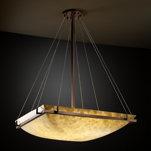 Justice Design Group Justice Design Group Clouds Collection Pendant Light CLD-9794-25-DBRZ
