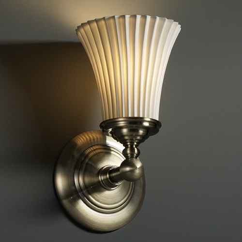 Justice Design Group Justice Design Group Limoges Collection Sconce POR-8521-20-PLET-ABRS