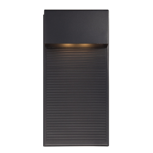 Modern Forms by WAC Lighting Modern Forms Hiline Black LED Outdoor Wall Light WS-W2312-BK