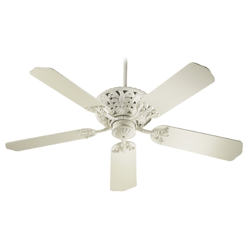 Quorum Lighting Quorum Lighting Windsor Antique White Ceiling Fan Without Light 85525-67