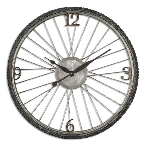 Uttermost Lighting Uttermost Spokes Aged Wall Clock 6426