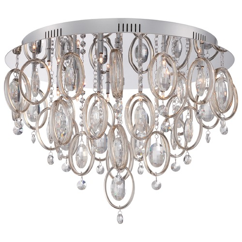 Quoizel Lighting Quoizel Platinum Collection Ella Polished Chrome Flushmount Light PCEL1623C