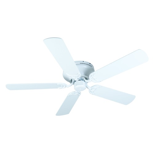 Craftmade Lighting Craftmade Lighting Pro Contemporary Flushmount White Ceiling Fan Without Light K10687