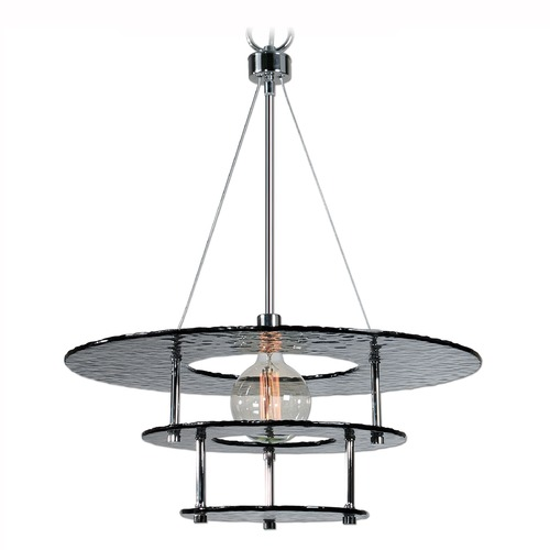 Uttermost Lighting Uttermost Gyrus 1 Light Smoke Glass Chandelier 21266