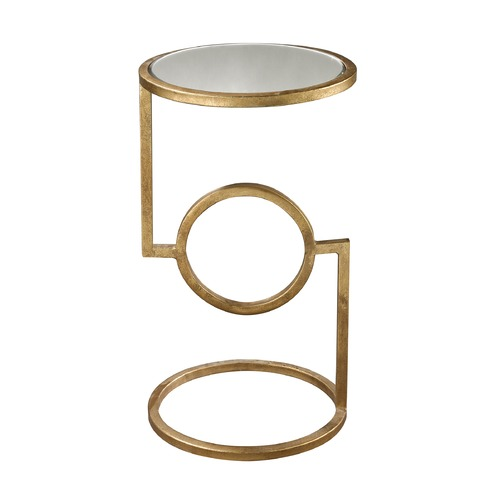 Dimond Lighting Mirrored Top Hurricane Side Table 114-108