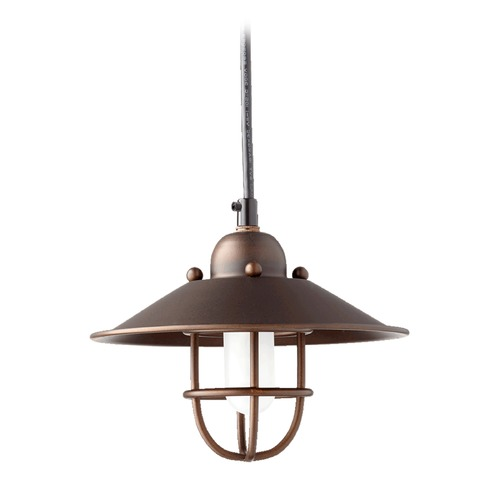 Quorum Lighting Quorum Lighting Oiled Bronze Mini-Pendant Light 1310-86