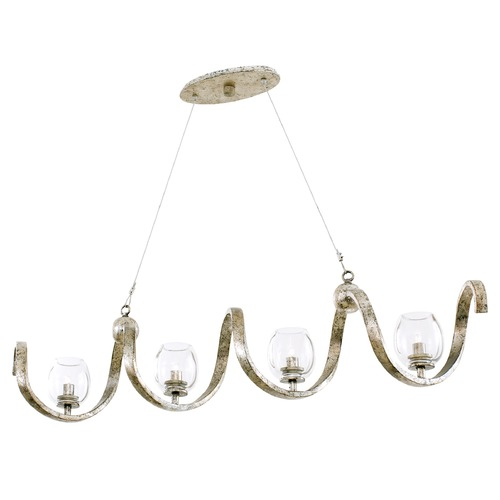 Kalco Lighting Kalco Lighting Madison Platinum Island Light with Bowl / Dome Shade 502760PT
