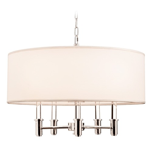 Kalco Lighting Kalco Dupont Chrome Pendant Light with Drum Shade 500572CH