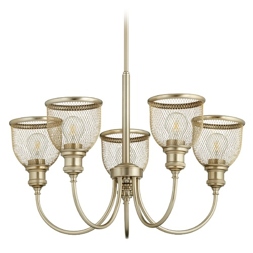 Quorum Lighting Quorum Lighting Omni Aged Brass Chandelier 6212-5-80