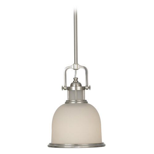 Feiss Lighting Mini-Pendant Light with White Glass P1144BS