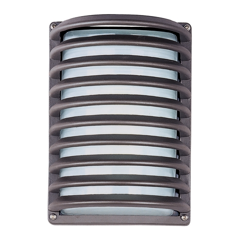 Maxim Lighting Modern Outdoor Wall Light with White Glass in Architectural Bronze Finish 86222WTABZ