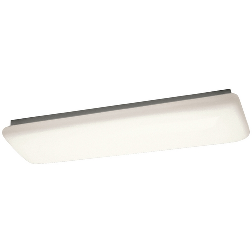 Kichler Lighting Kichler Modern Flushmount Light with White Acrylic in White Finish 10301WH