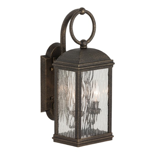 Sea Gull Lighting Outdoor Wall Light with Clear Glass in Obsidian Mist Finish 88191-802