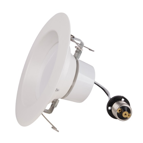 Recesso Lighting by Dolan Designs LED Retrofit White ReflectorTrim for 6-Inch Recessed Cans 3000K 1080 Lumens 10920-30-05