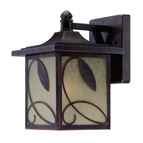 Designers Fountain Lighting Outdoor Wall Light with Beige / Cream Glass in Flemish Copper Finish 22221-FC