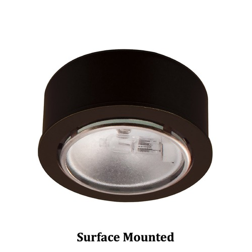 WAC Lighting 12V Halogen Puck Light Recessed / Surface Mount Bronze by WAC Lighting HR-88-DB