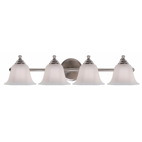 Kenroy Home Lighting Kenroy Home Lighting Woodhill Brushed Steel Bathroom Light 93524BS