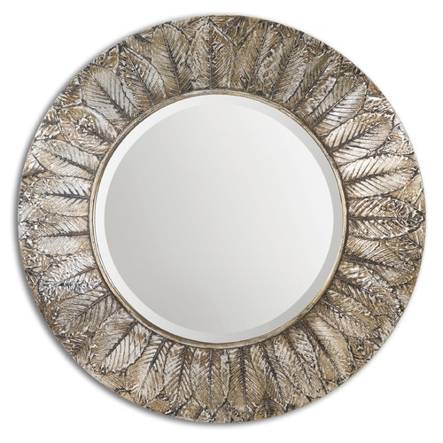 Uttermost Lighting Uttermost Foliage Round Silver Leaf Mirror 07065