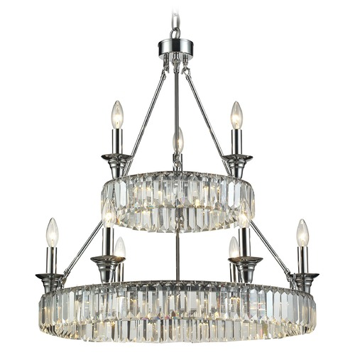 Elk Lighting Elk Lighting Manning Polished Chrome Chandelier 11806/20+6+3