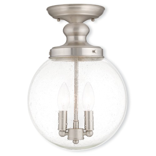 Livex Lighting Livex Lighting Northampton Brushed Nickel Semi-Flushmount Light 50913-91