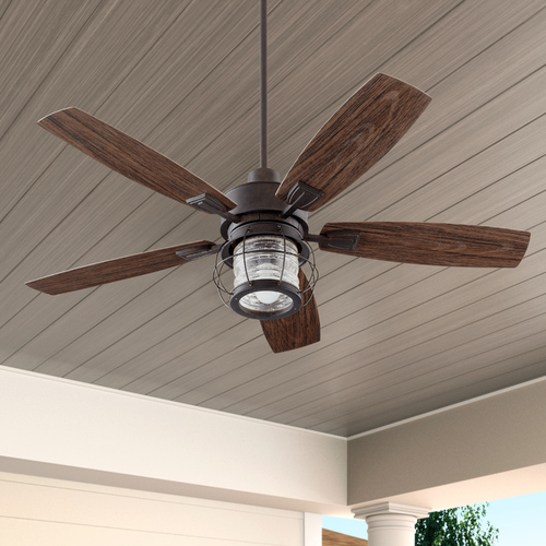 Quorum Lighting Quorum Lighting Galveston Toasted Sienna Ceiling Fan with Light 13525-44