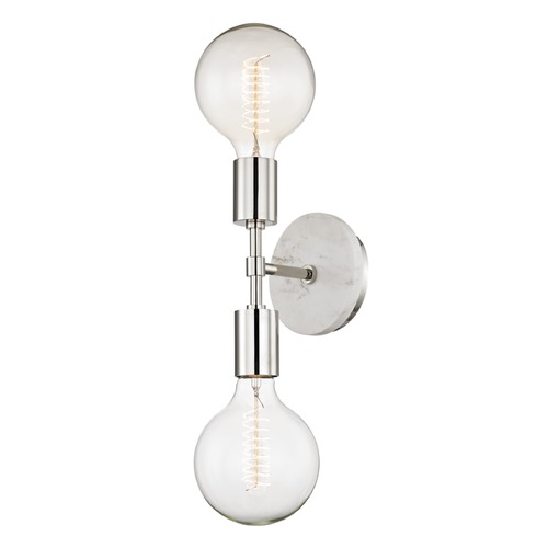 Mitzi by Hudson Valley Mid-Century Modern Sconce Polished Nickel Chloe by Hudson Valley Lighting H110102-PN