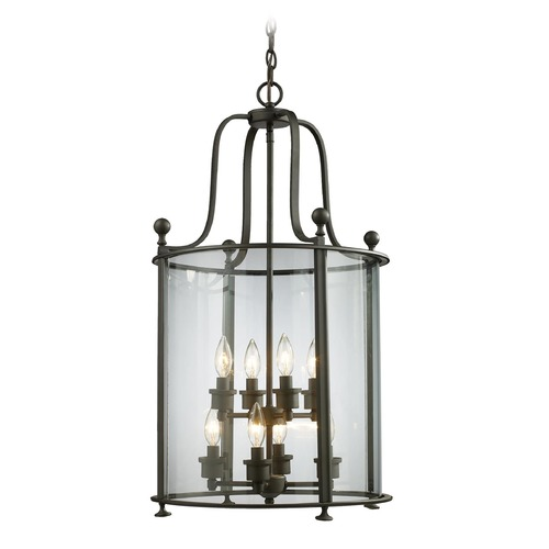 Z-Lite Z-Lite Wyndham Bronze Pendant Light with Cylindrical Shade 135-8