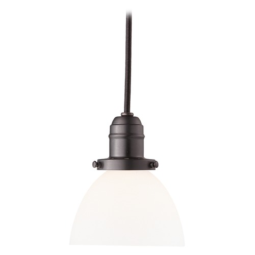 Hudson Valley Lighting Mini-Pendant Light with White Glass 3102-OB-823
