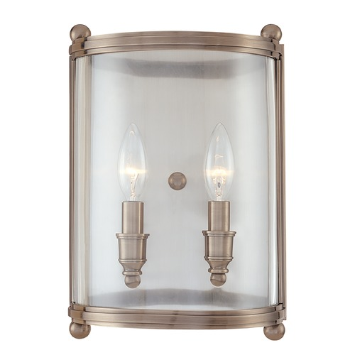 Hudson Valley Lighting Sconce Wall Light with Clear Glass in Distressed Bronze Finish 1302-DB