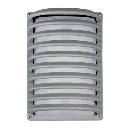 Maxim Lighting Modern Outdoor Wall Light with White Glass in Platinum Finish 86222WTPL
