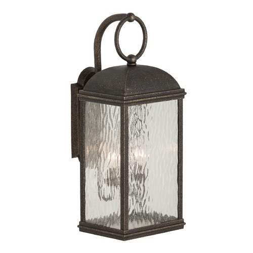 Sea Gull Lighting Outdoor Wall Light with Clear Glass in Obsidian Mist Finish 88192-802