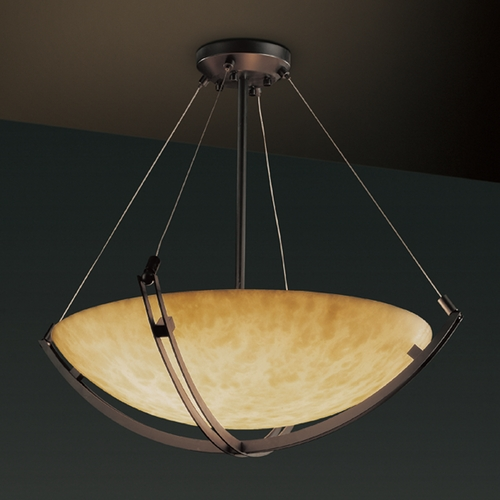 Justice Design Group Justice Design Group Clouds Collection Pendant Light CLD-9722-35-DBRZ