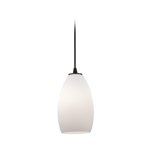 Access Lighting Modern Mini-Pendant Light with White Glass 28012-2C-ORB/OPL