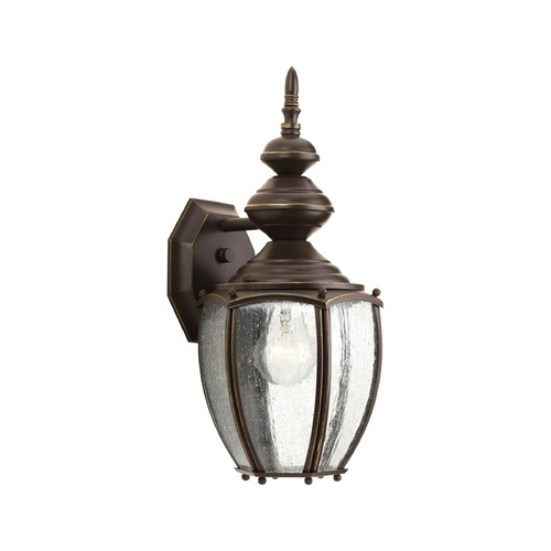 Progress Lighting Outdoor Wall Light with Clear Glass in Antique Bronze Finish P5765-20
