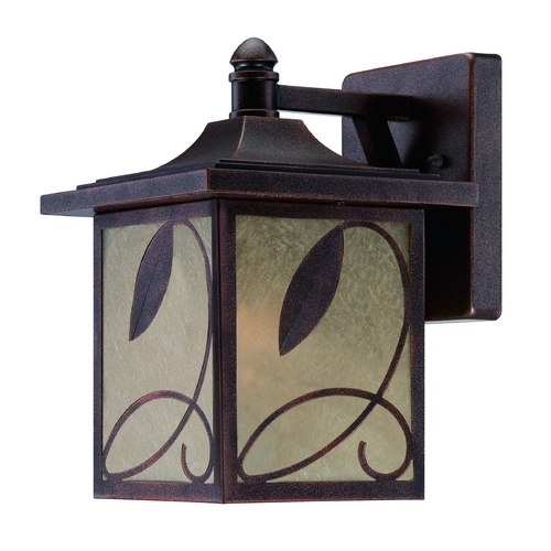 Designers Fountain Lighting Outdoor Wall Light with Beige / Cream Glass in Flemish Copper Finish 22231-FC