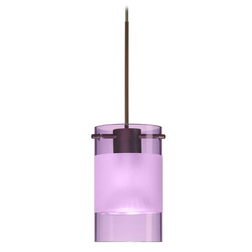 Besa Lighting Besa Lighting Scope Bronze LED Mini-Pendant Light with Cylindrical Shade 1XT-6524EA-LED-BR