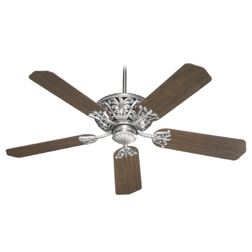 Quorum Lighting Quorum Lighting Windsor Antique Silver Ceiling Fan Without Light 85525-92