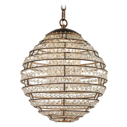 Elk Lighting Elk Lighting Crystal Sphere Spanish Bronze LED Pendant Light 11730/LED