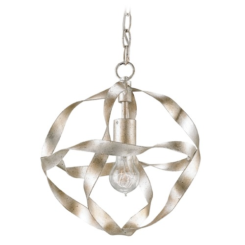 Currey and Company Lighting Currey and Company Cardon Silver Granello Pendant Light 9839