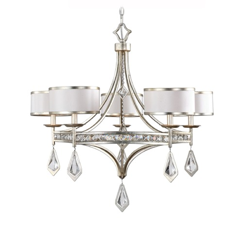 Uttermost Lighting Uttermost Tamworth 5 Light Silver Champagne Chandelier 21268