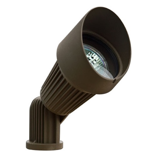 Dabmar Lighting Bronze Cast Aluminum Directional Spot Light with Hood LV203-BZ