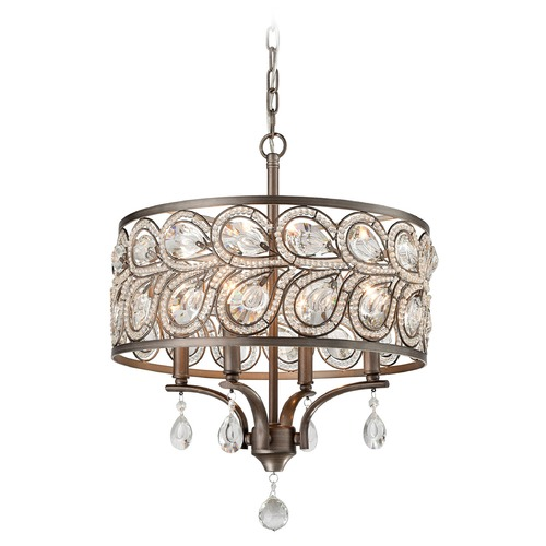Elk Lighting Elk Lighting Evolve Weathered Zinc Pendant Light 11934/4