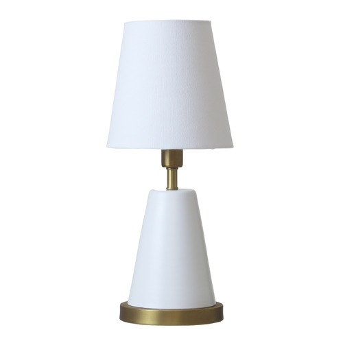 House of Troy Lighting House of Troy Geo White with Weathered Brass Accents Accent Lamp GEO406